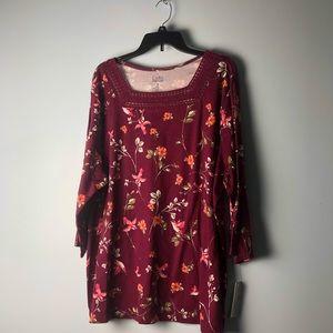 New Croft and Barrow Ladies Shirt. Size:3x